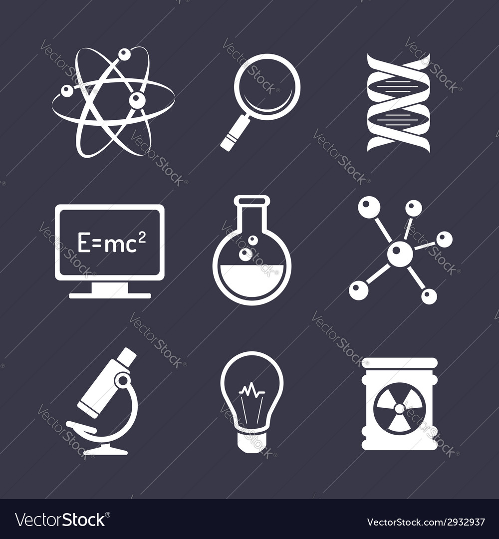 Chemistry and science icons vector | Price: 1 Credit (USD $1)