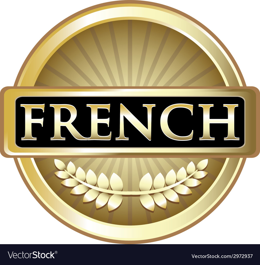 French gold label vector | Price: 1 Credit (USD $1)