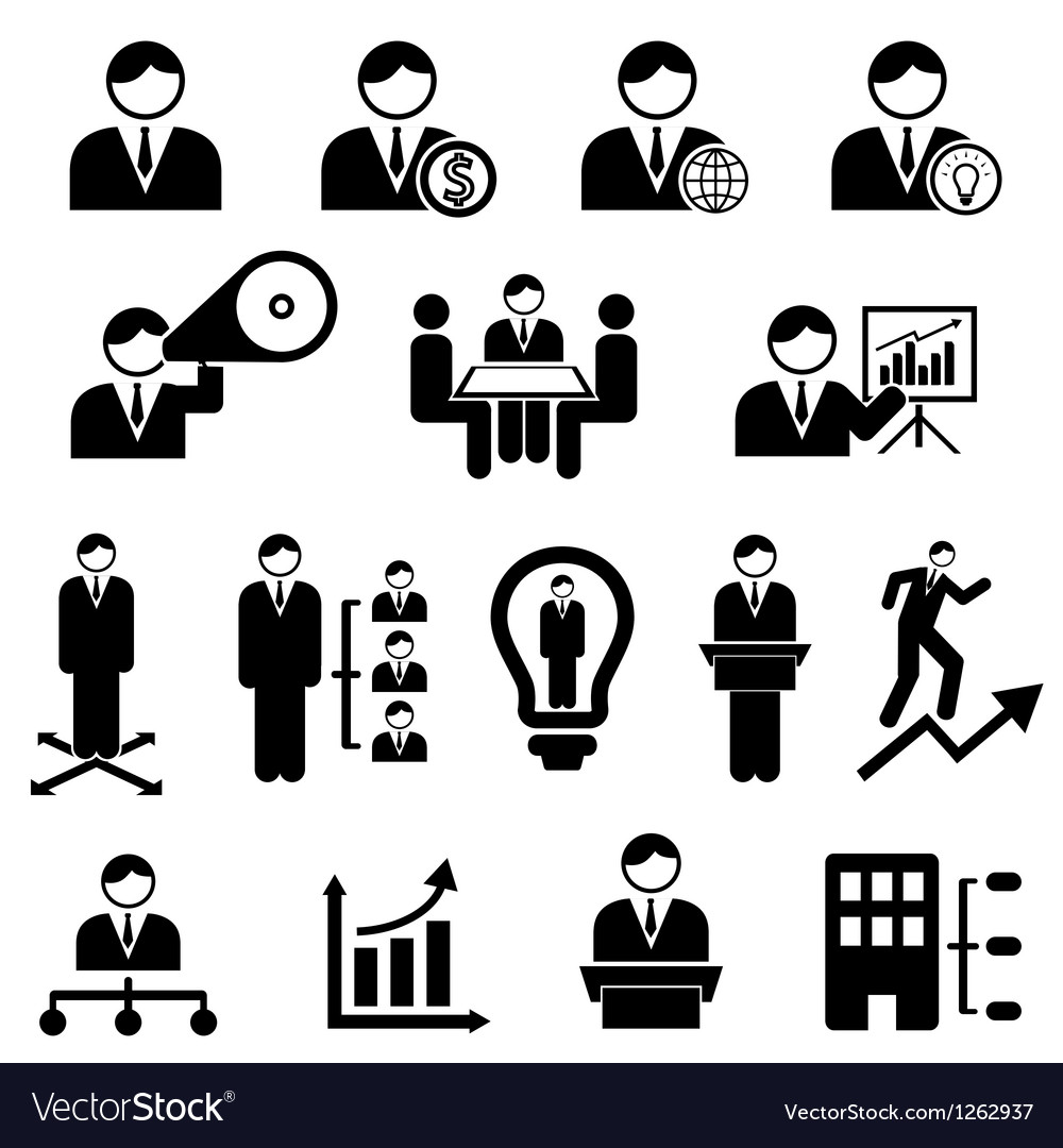 Management icons vector | Price: 1 Credit (USD $1)