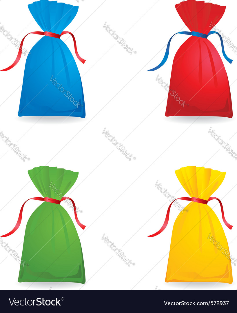 Of set christmas or birthday colour sacks vector | Price: 1 Credit (USD $1)