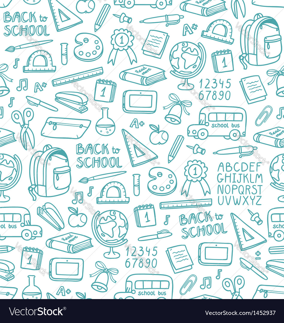 School pattern vector | Price: 1 Credit (USD $1)