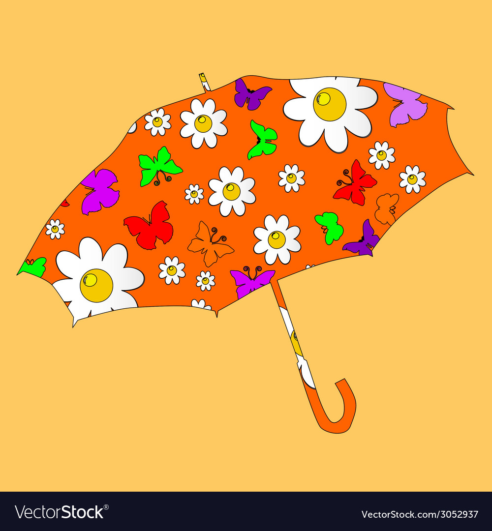 Sweet umbrella for kids vector | Price: 1 Credit (USD $1)