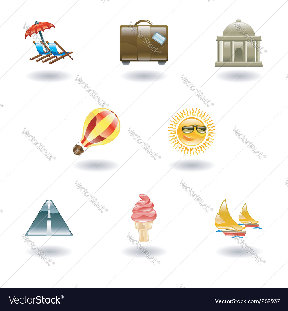 Tourism icons vector | Price: 1 Credit (USD $1)