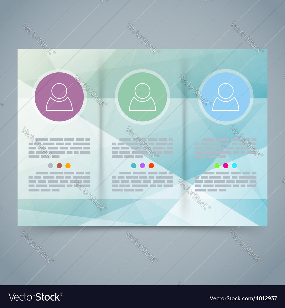 Tri-fold modern brochure booklet template vector | Price: 1 Credit (USD $1)