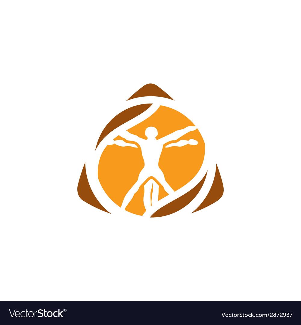 Vetruvian man sign vector | Price: 1 Credit (USD $1)