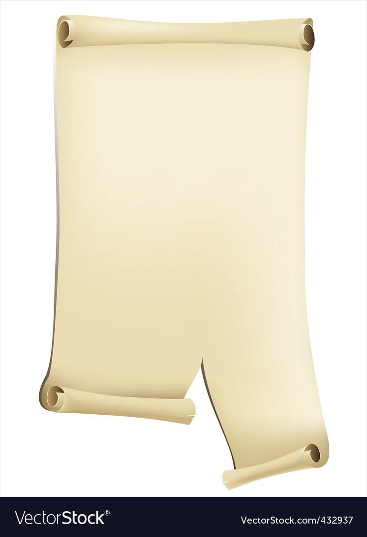 Vintage paer scroll vector | Price: 1 Credit (USD $1)