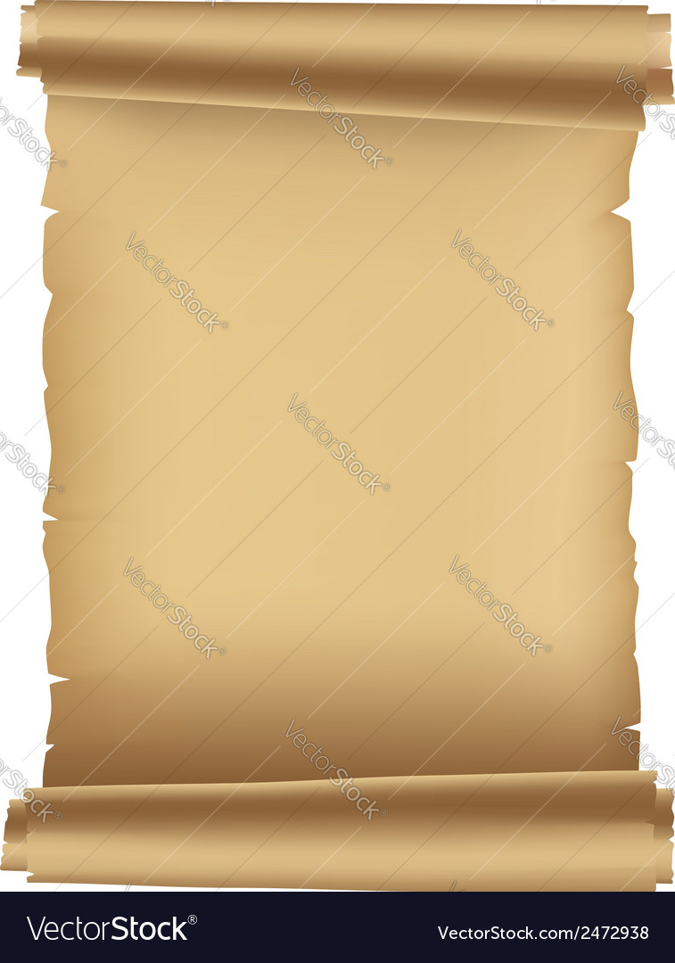 Ancient paper scroll vector | Price: 1 Credit (USD $1)