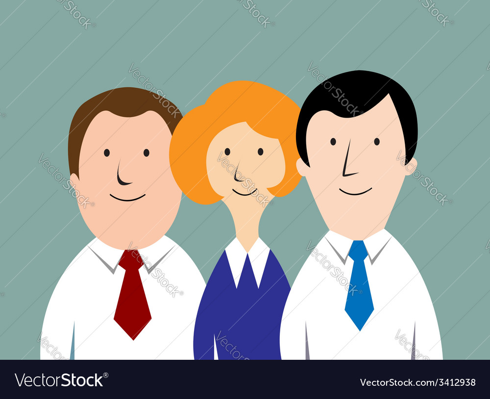 Cartoon business team vector | Price: 1 Credit (USD $1)