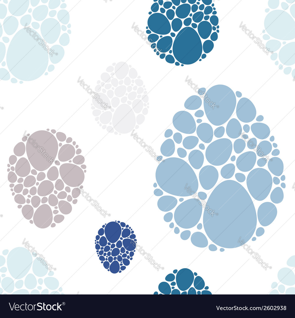 Easter eggs blue seamless pattern vector | Price: 1 Credit (USD $1)