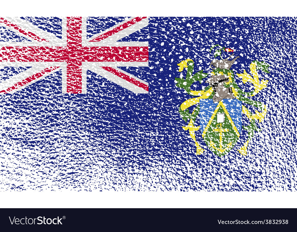 Flag of pitcairn islands with old texture vector | Price: 1 Credit (USD $1)