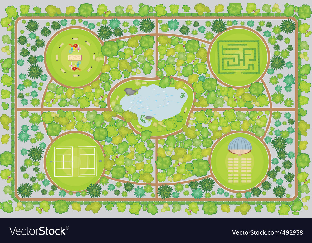 Park plan vector | Price: 3 Credit (USD $3)