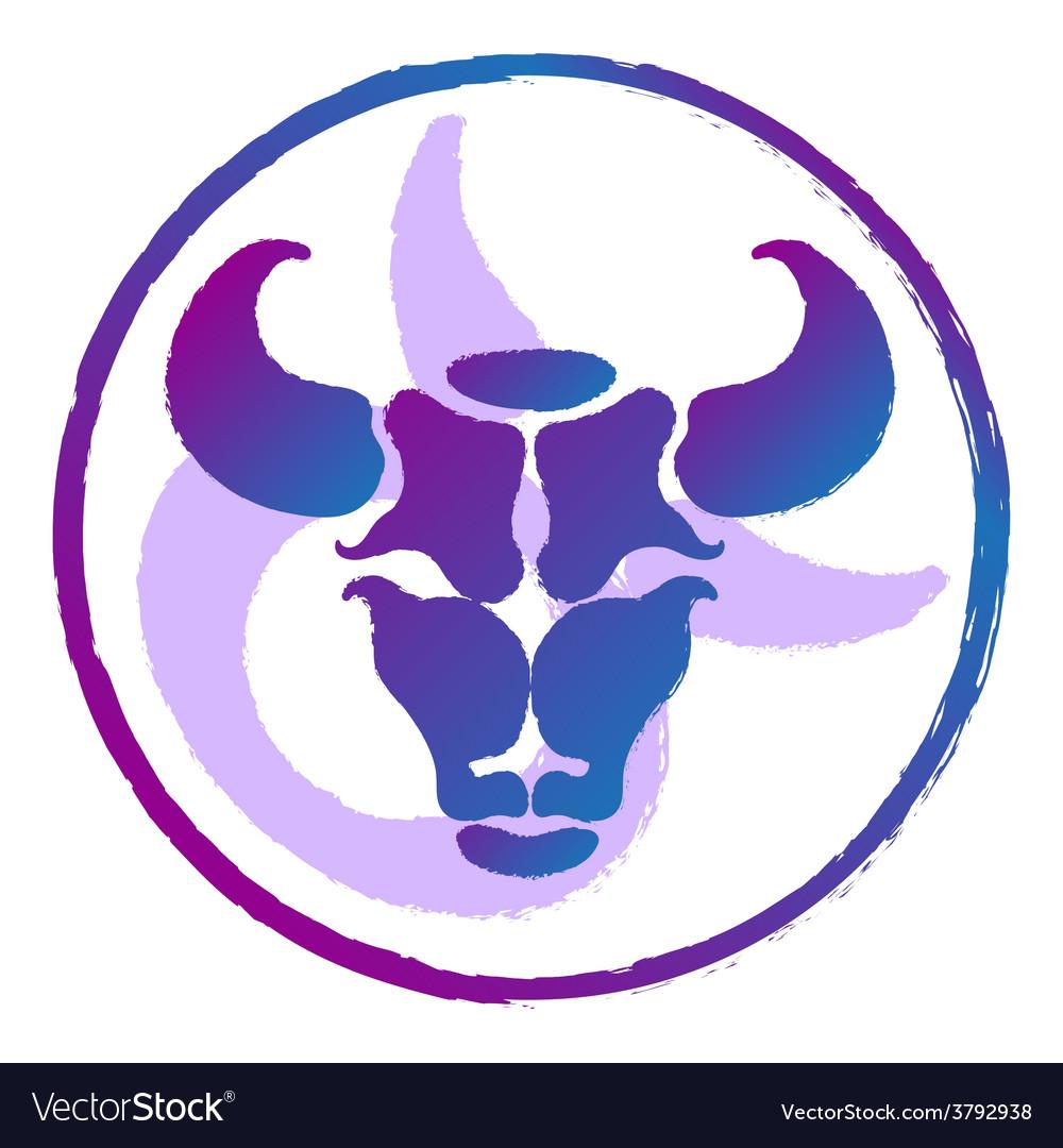 Zodiac sign taurus  watercolor vector   Price: 1 Credit (USD $1)
