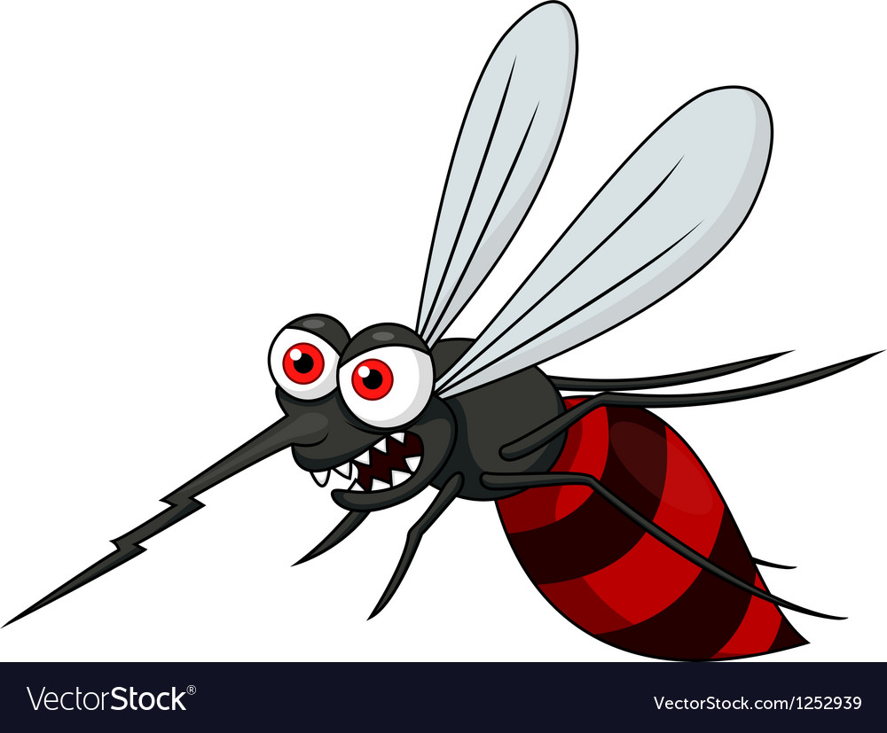 Angry mosquito cartoon vector | Price: 1 Credit (USD $1)