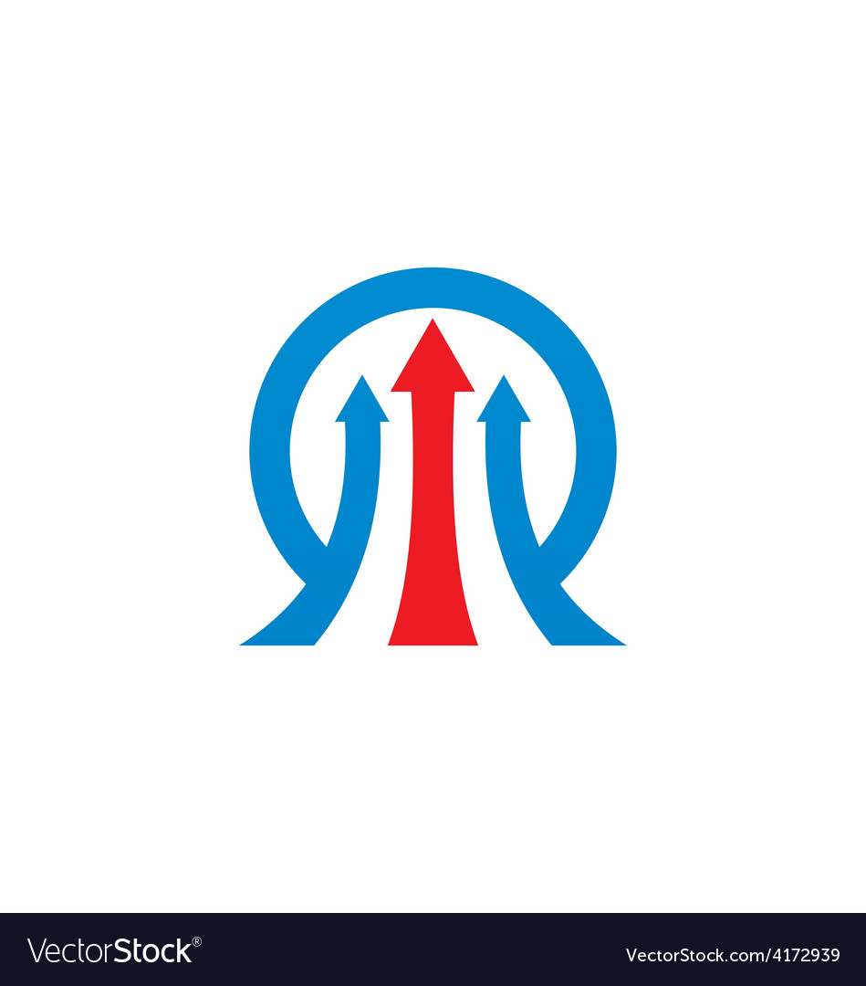 Arrow business finance logo vector