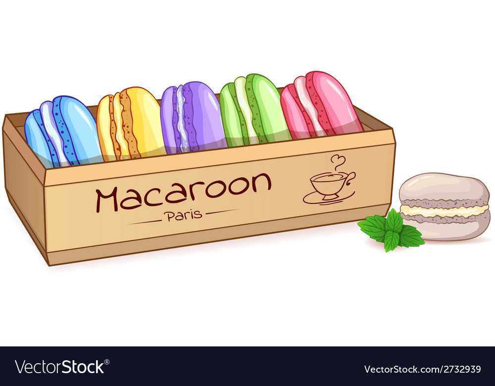 Beautiful of a french dessert macaroons in an vector | Price: 1 Credit (USD $1)