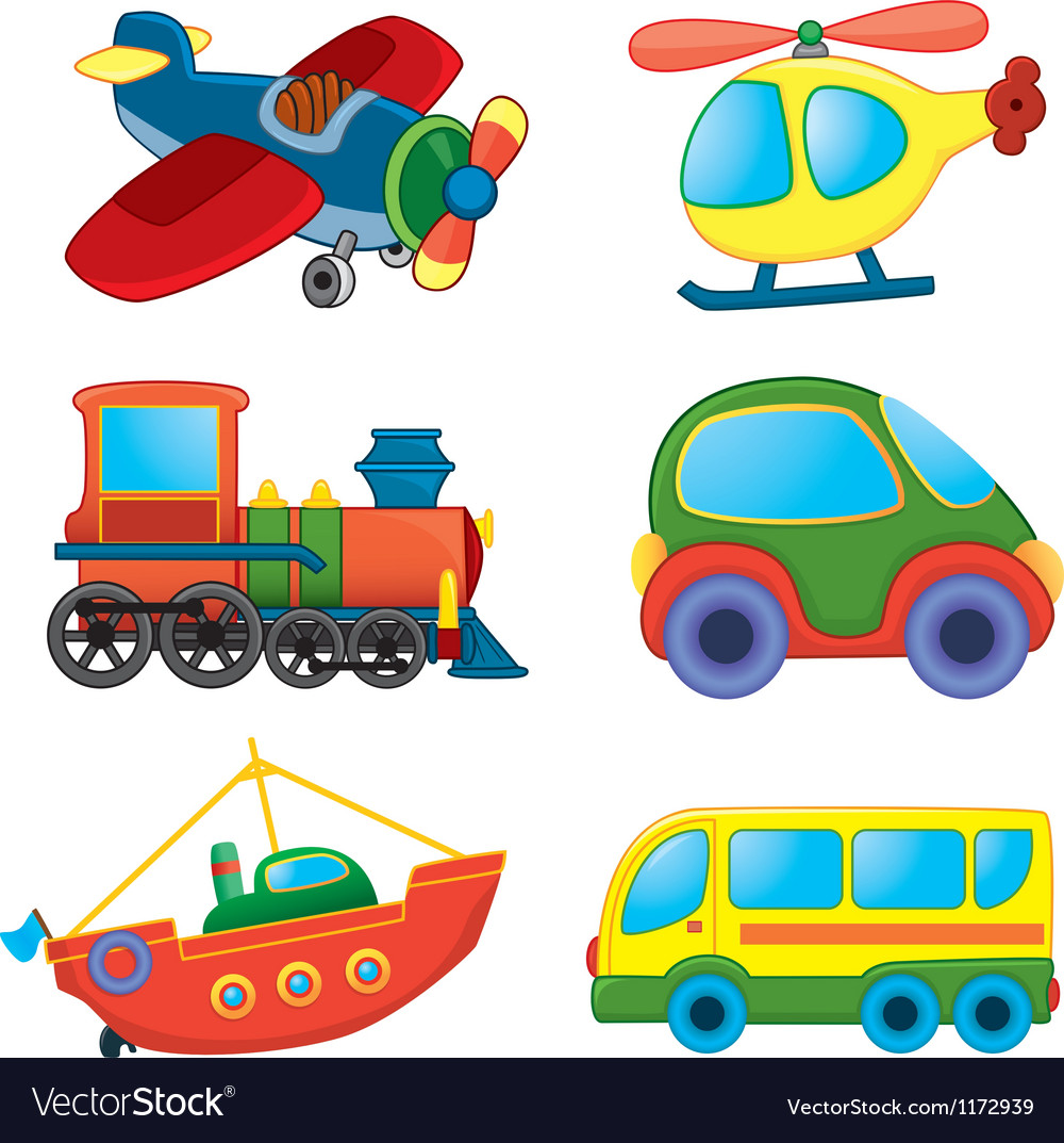 Cartoon transport toys vector | Price: 1 Credit (USD $1)