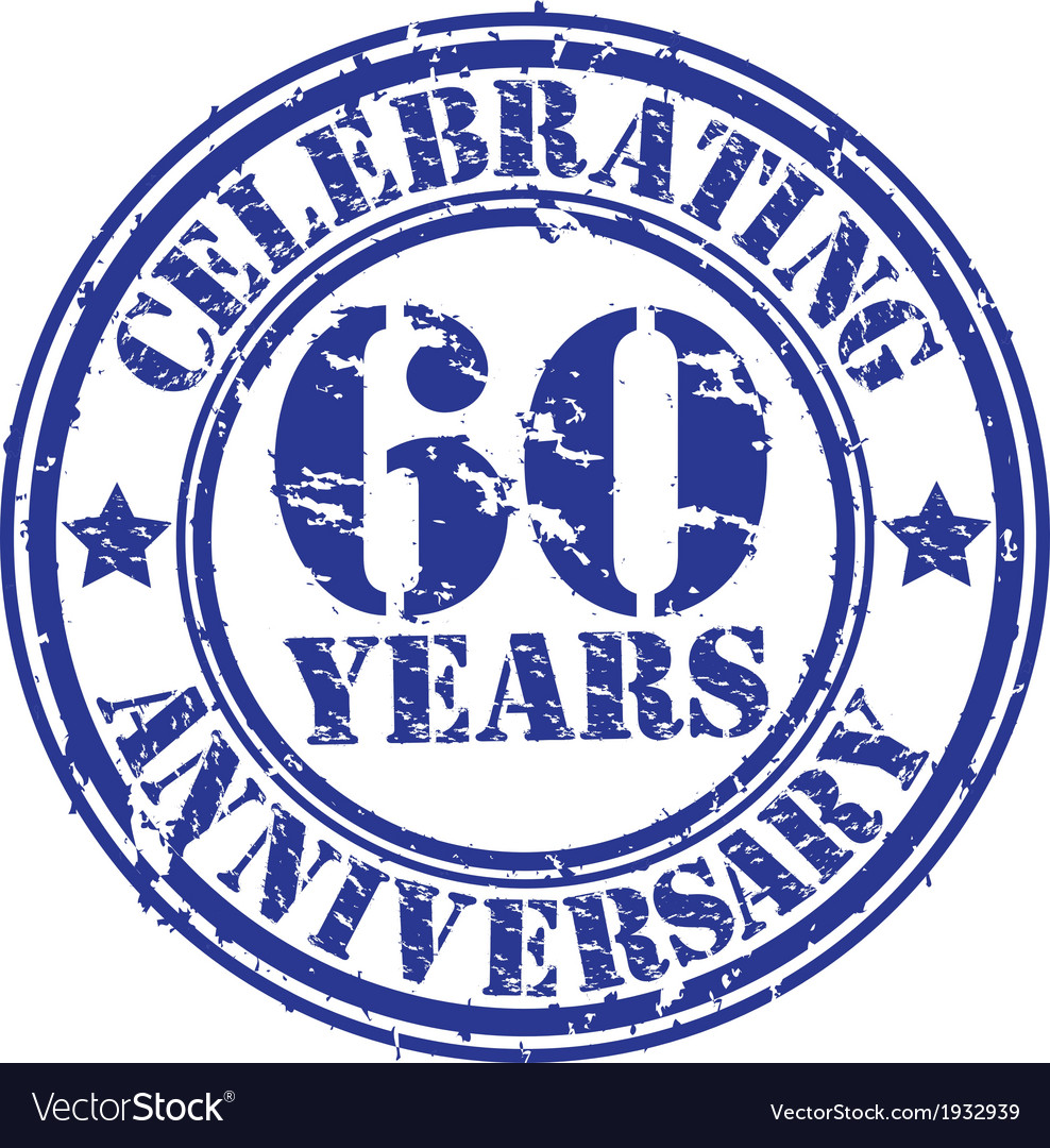 Celebrating 60 years anniversary grunge rubber sta vector | Price: 1 Credit (USD $1)