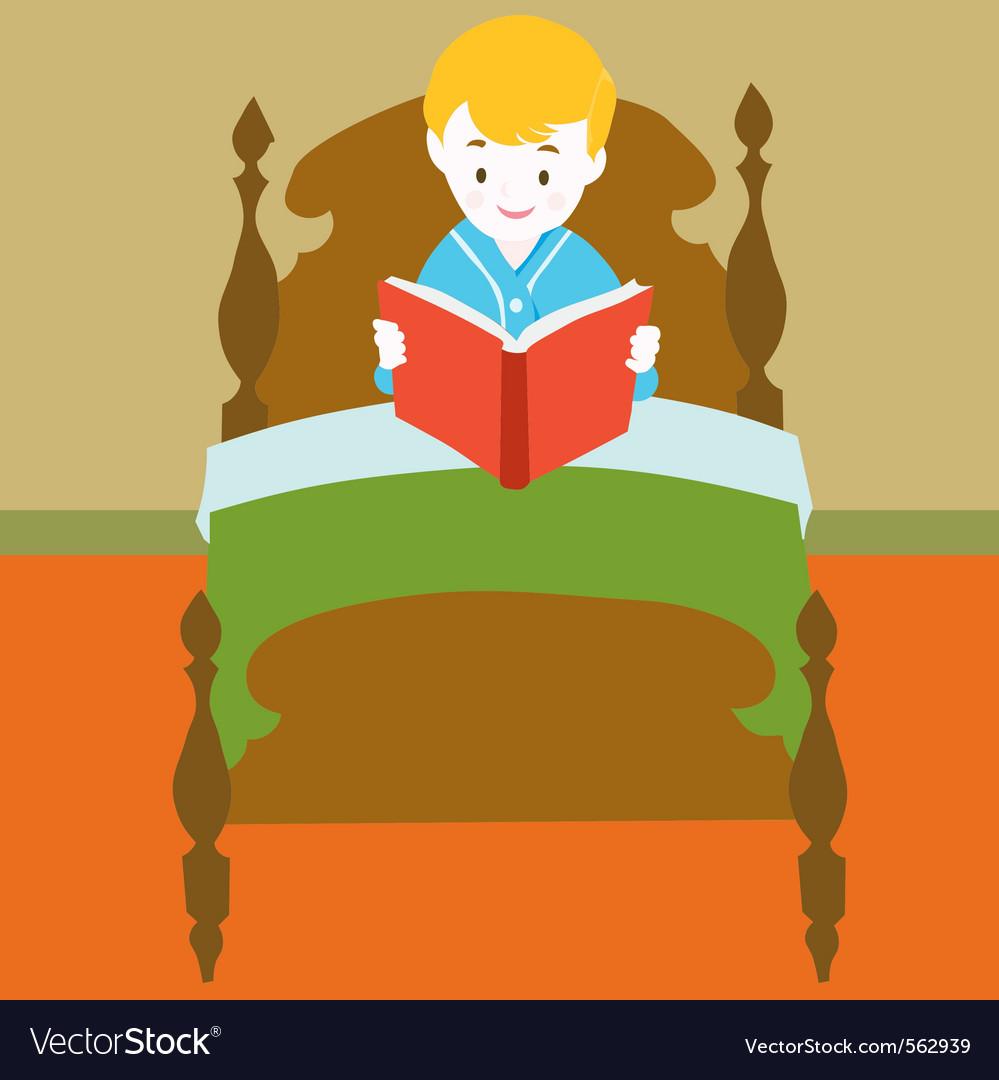 Child reading book vector | Price: 1 Credit (USD $1)