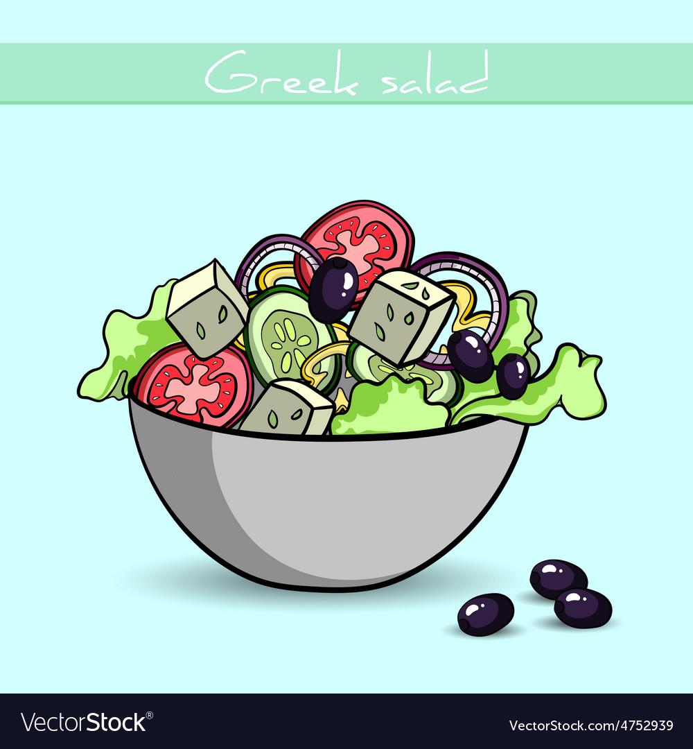 Greeksalad vector | Price: 1 Credit (USD $1)
