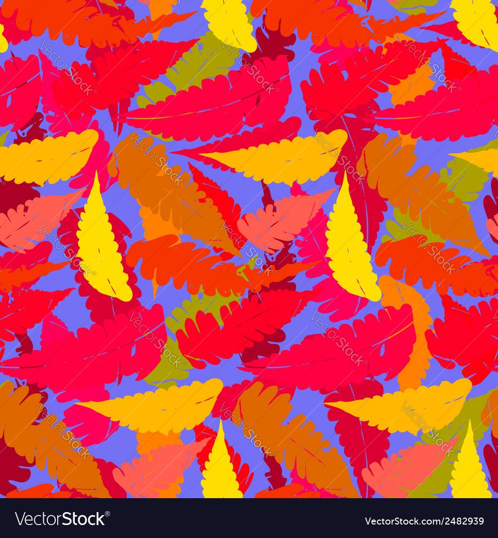 Grunge autumn pattern with fern leafs vector   Price: 1 Credit (USD $1)
