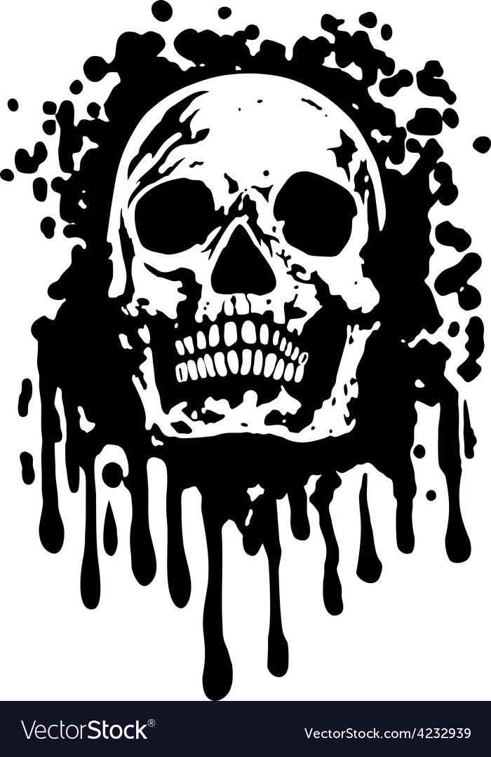 Grungeskull vector | Price: 3 Credit (USD $3)