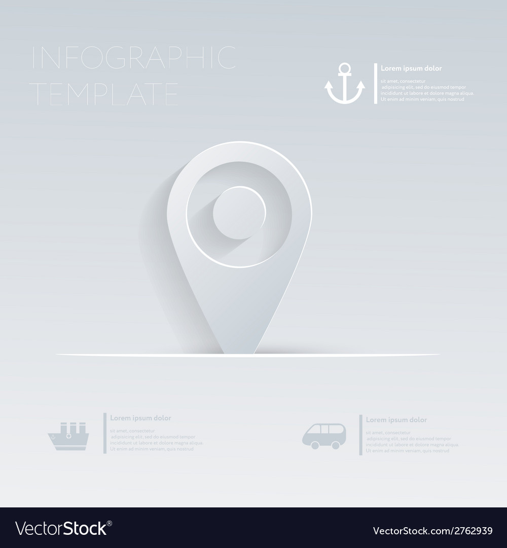 Pin pointer location theme holidays template vector | Price: 1 Credit (USD $1)