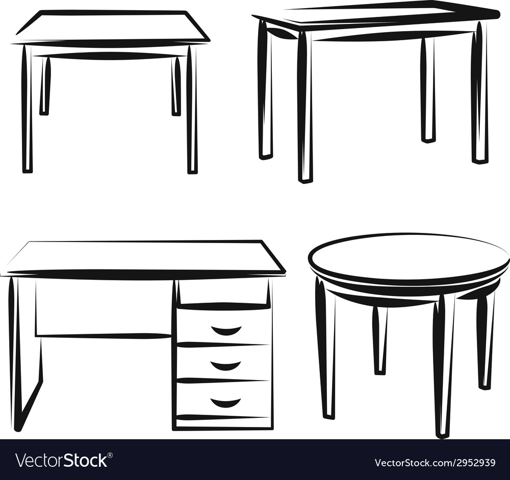 With a set of furniture vector | Price: 1 Credit (USD $1)