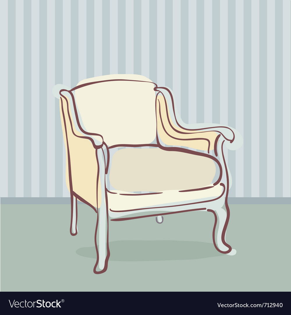 Antique chair retro style vector | Price: 1 Credit (USD $1)