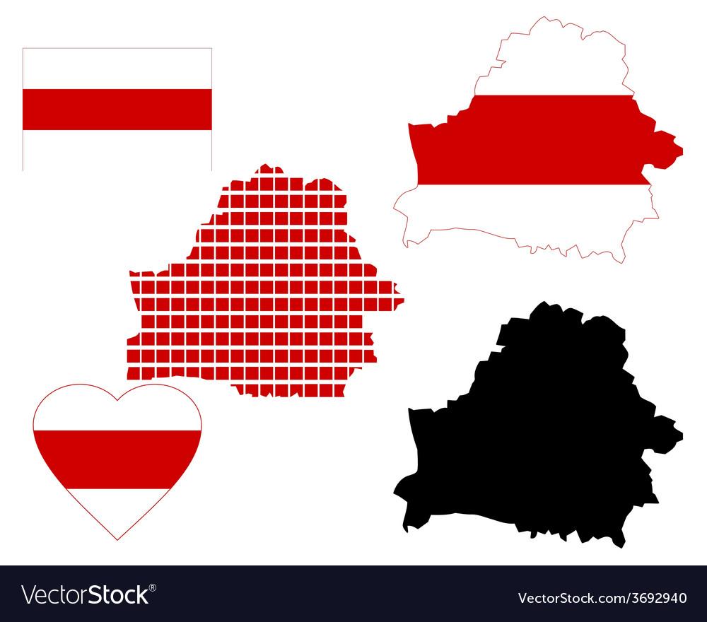 Belarus map vector | Price: 1 Credit (USD $1)