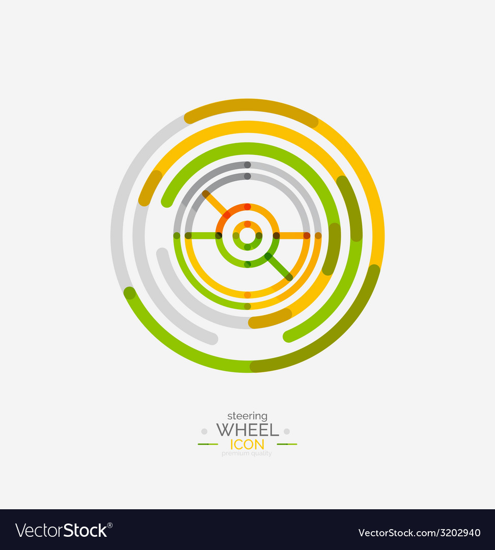 Car steering wheel icon vector | Price: 1 Credit (USD $1)