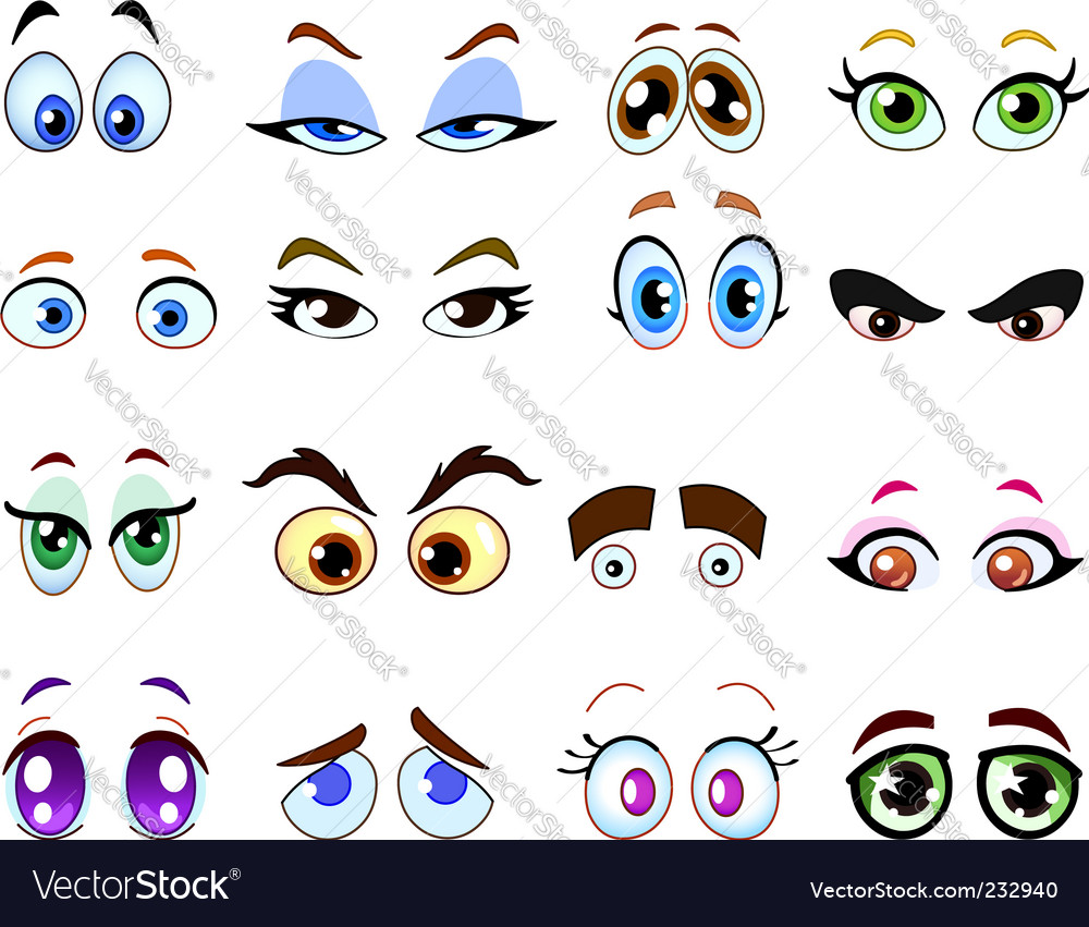 Cartoon eyes vector | Price: 1 Credit (USD $1)