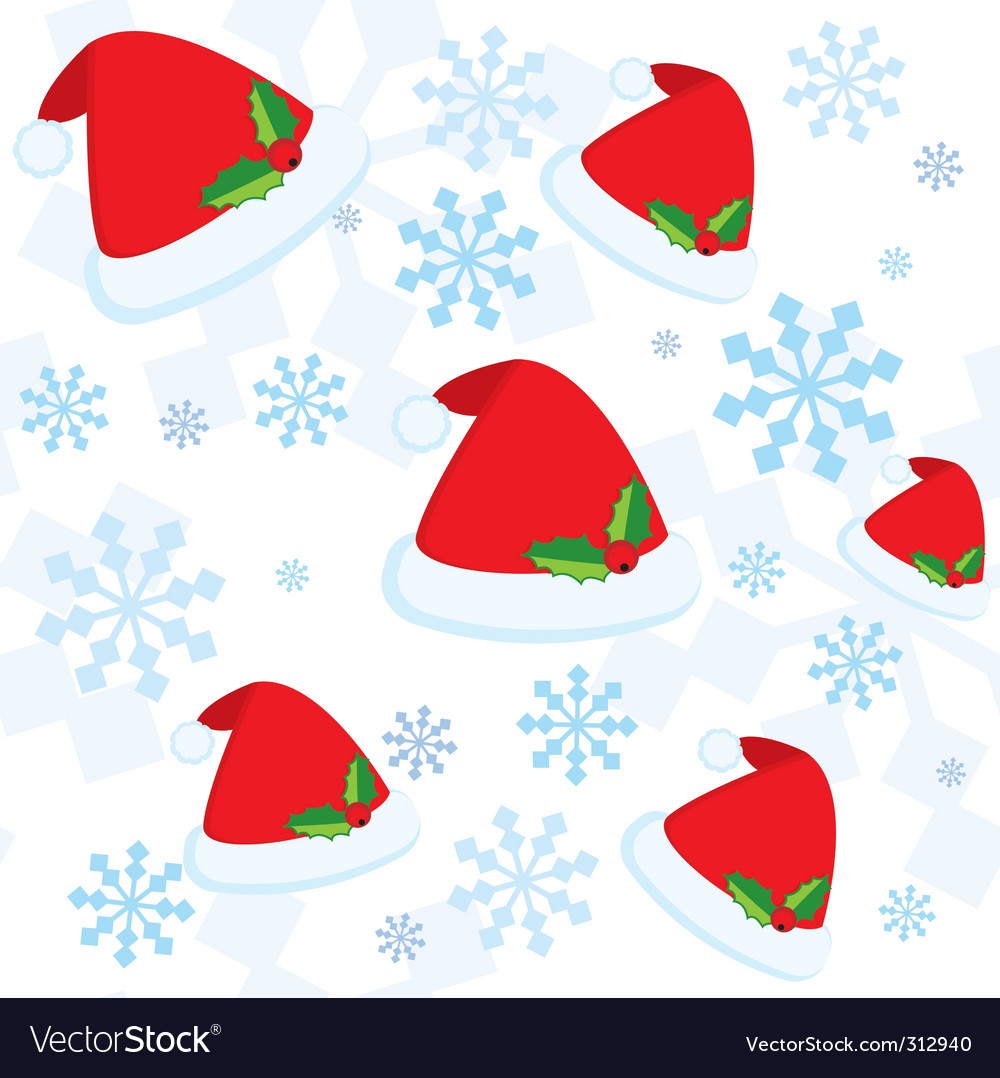 Christmas seamless pattern with snowflakes vector | Price: 1 Credit (USD $1)