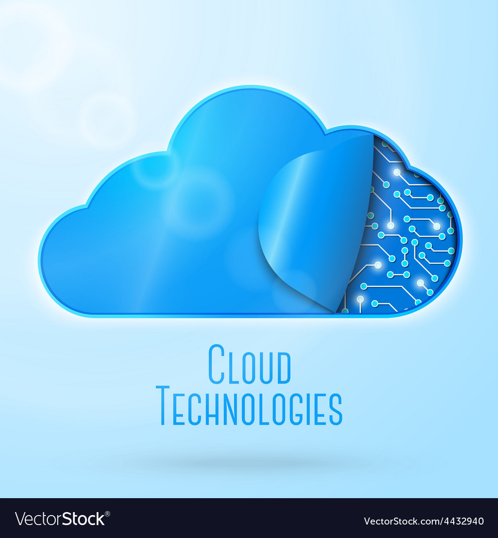 Cloud computing technology concept vector | Price: 3 Credit (USD $3)