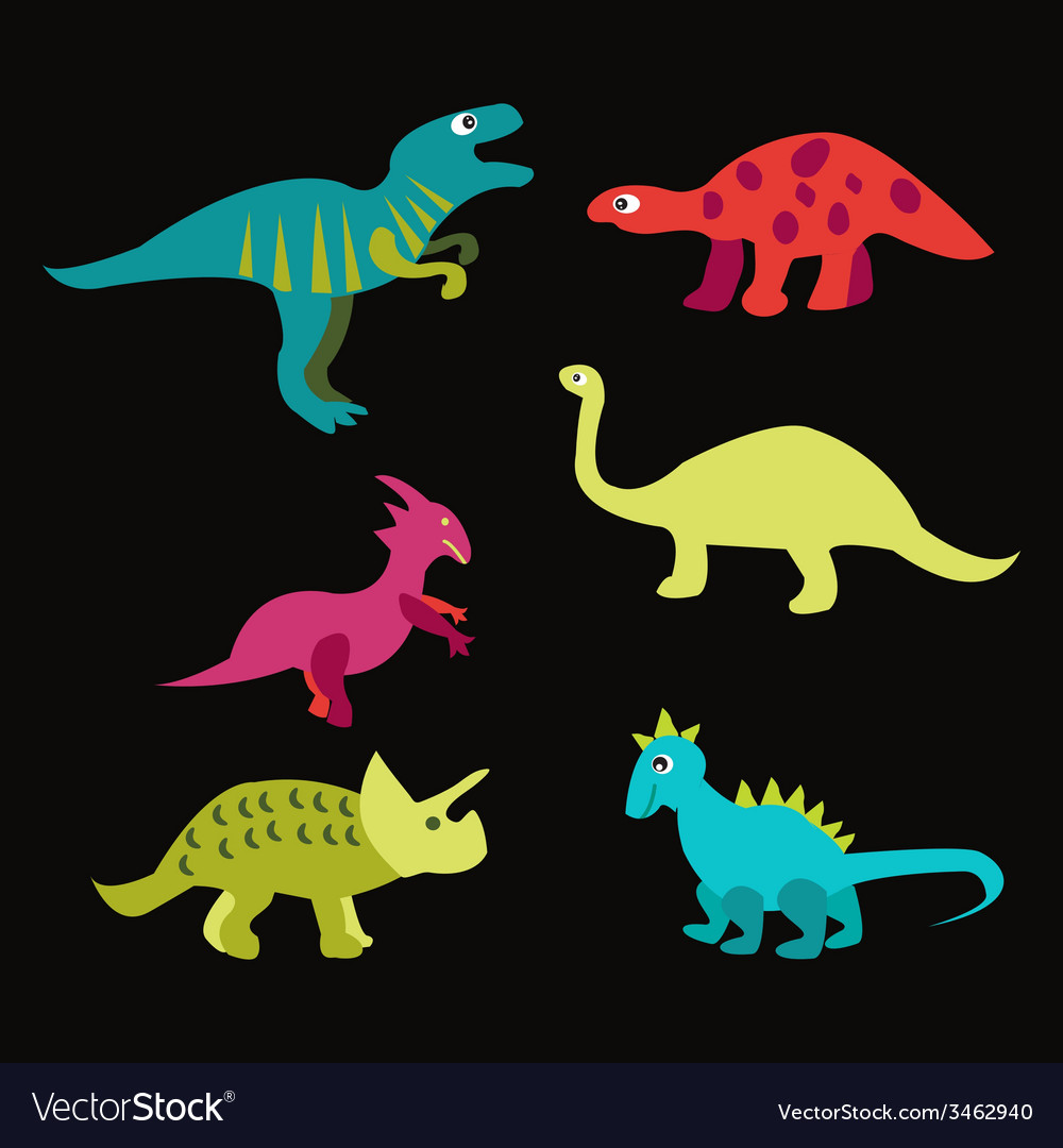 Dinosaurs - vector | Price: 1 Credit (USD $1)