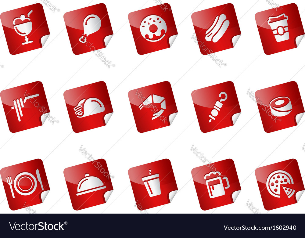 Food stickers vector | Price: 1 Credit (USD $1)