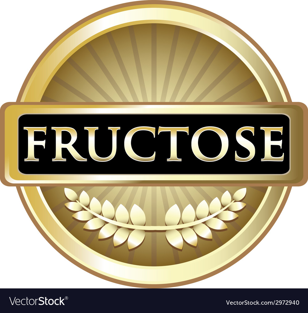 Fructose gold label vector | Price: 1 Credit (USD $1)