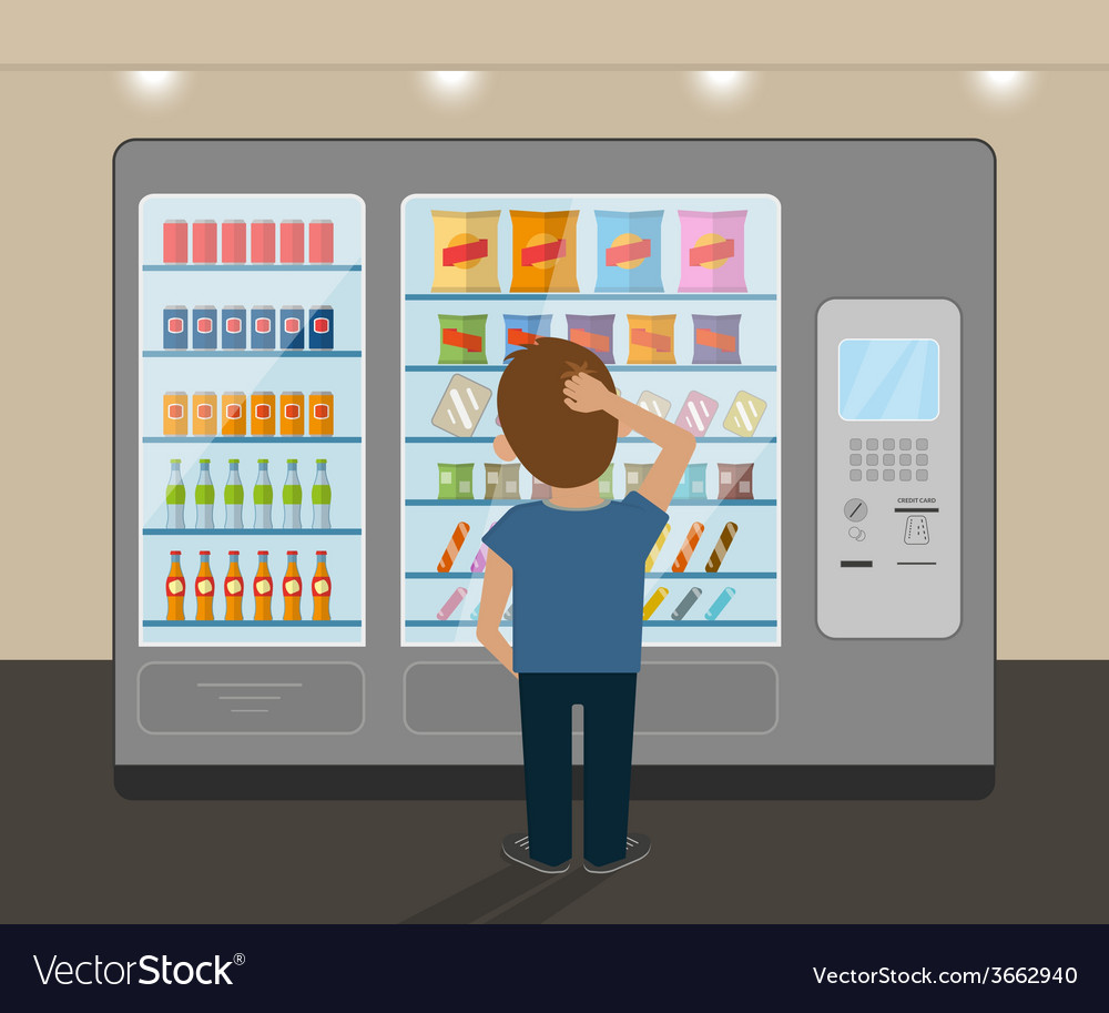 Snack vending machine vector | Price: 1 Credit (USD $1)