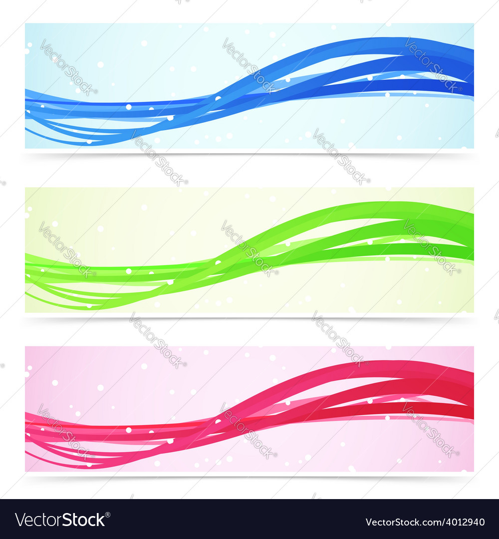 Web speed line colorful banner collection vector | Price: 1 Credit (USD $1)