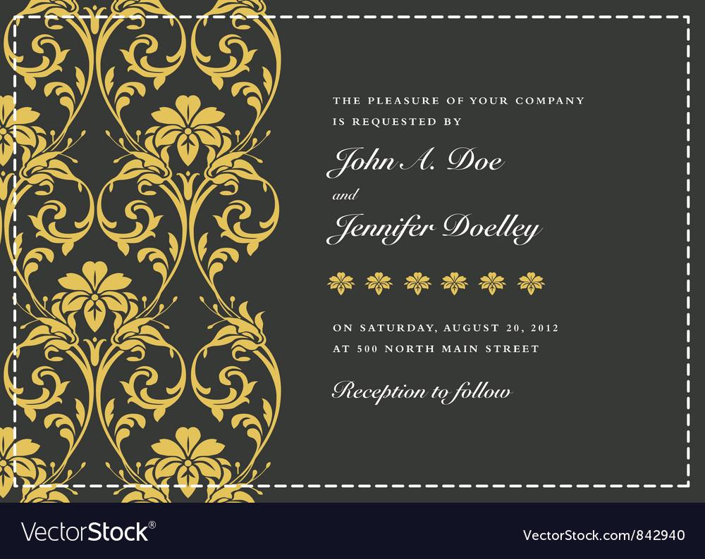 Wedding invitation templates vector | Price: 1 Credit (USD $1)