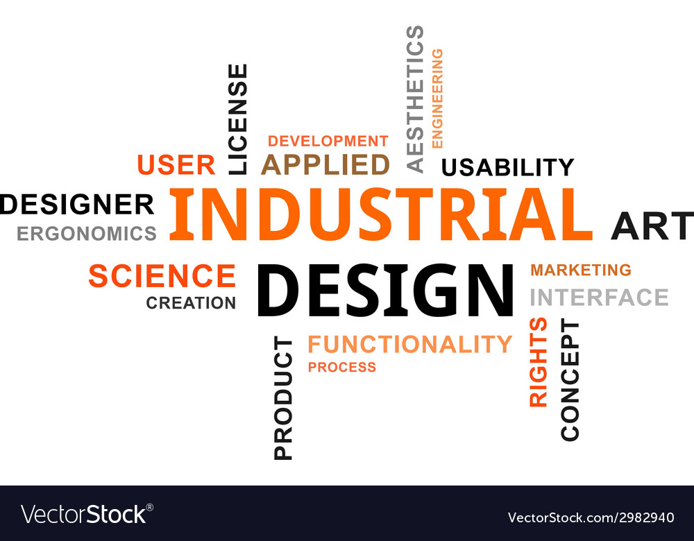 Word cloud industrial design vector | Price: 1 Credit (USD $1)