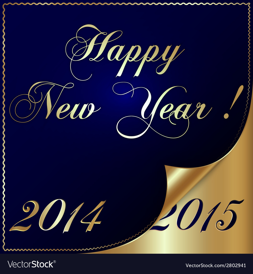 2015 new year greeting with curled corner vector | Price: 1 Credit (USD $1)