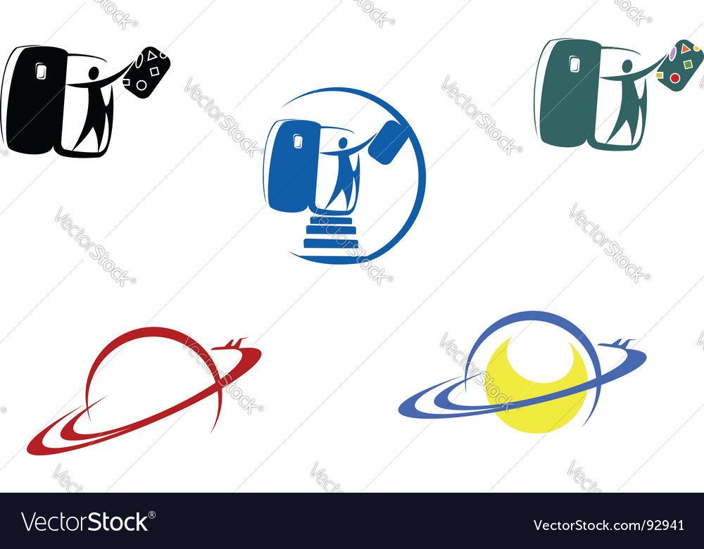 Aviation and travel symbols vector | Price: 1 Credit (USD $1)