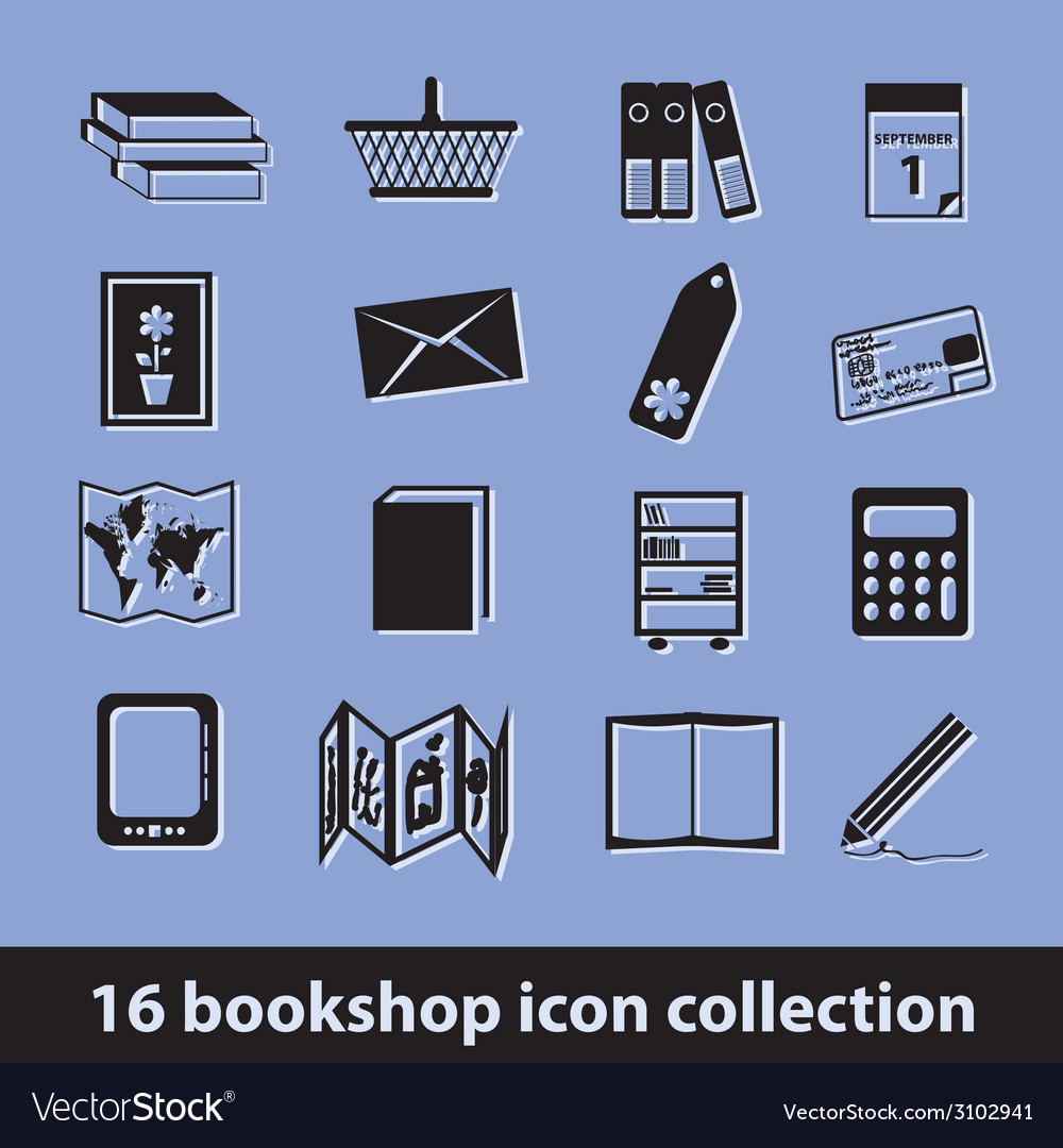 Bookshop icons vector | Price: 1 Credit (USD $1)
