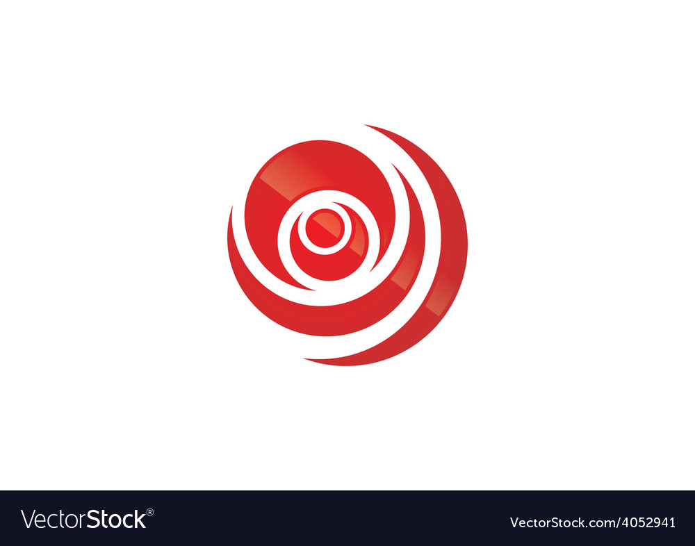 Circle round swirl logo vector