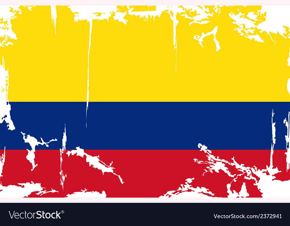 Colombian grunge flag vector | Price: 1 Credit (USD $1)