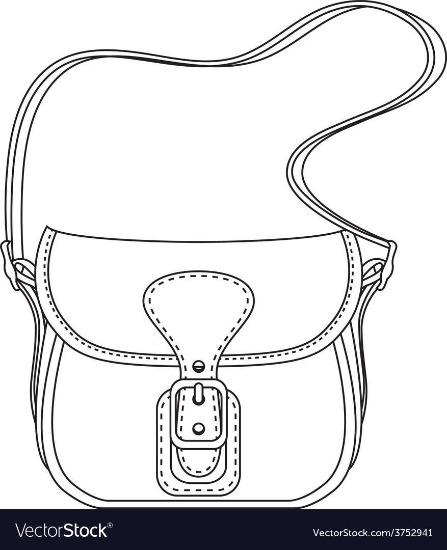 Contour ladies fashion bag vector | Price: 1 Credit (USD $1)