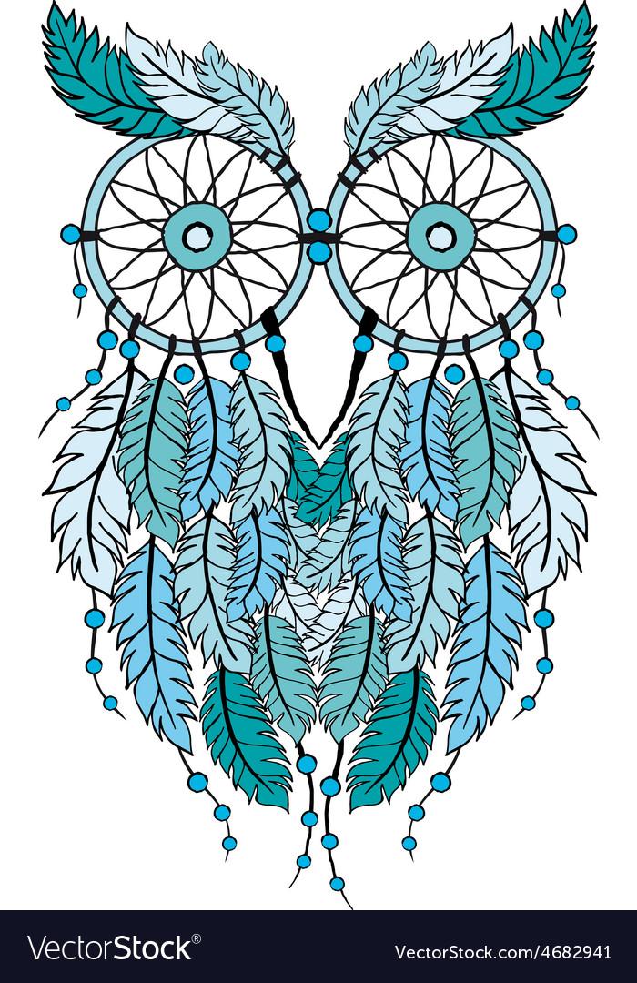 Dreamcatcher owl vector | Price: 1 Credit (USD $1)