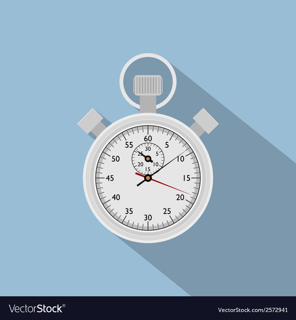 Flat stop watch vector | Price: 1 Credit (USD $1)