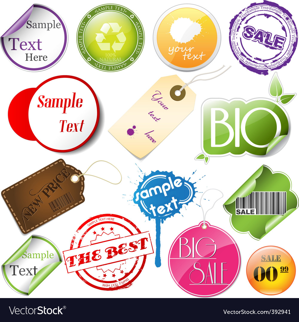 Promotional elements vector | Price: 1 Credit (USD $1)