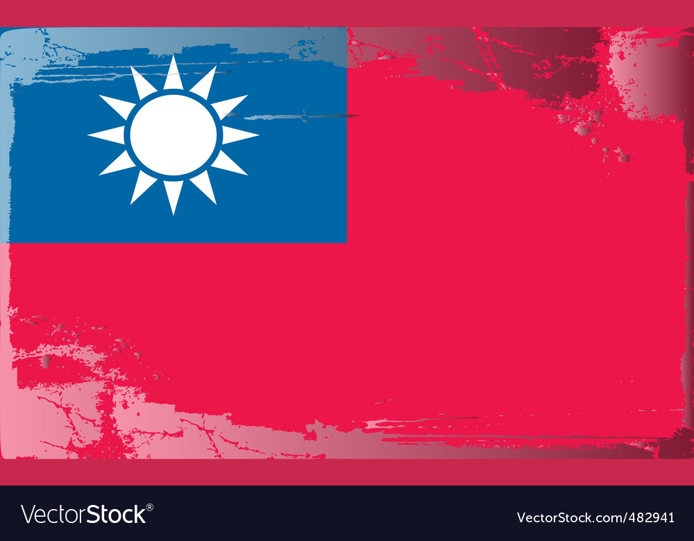 Taiwan national flag vector | Price: 1 Credit (USD $1)